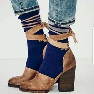 Free people tie up heels